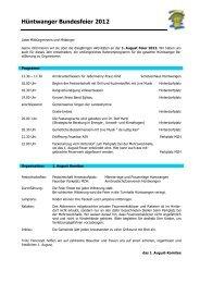 Programm Bundesfeier 2012 - Gemeinde Hüntwangen