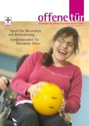 Sport für Menschen mit Behinderung Verdienstorden für Marianne ...