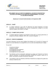 R-212 Règlement sur les droits d'admission, les droits d'inscription ...