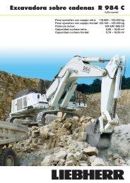 Excavadora sobre cadenas R 984 C