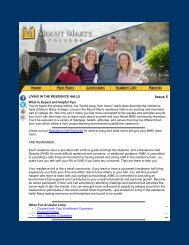 Living in the Residence Halls - Mount Marty College
