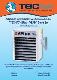 Aerotermos eléctricos VEAB Serie EA - Tecna