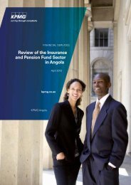 Review of the Insurance and Pension Fund Sector in Angola - KPMG