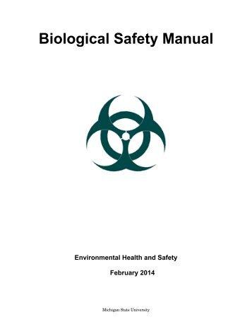MSU Biosafety Manual - Michigan State University
