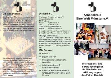 Broschüre - Arbeitsgemeinschaft Eine - Welt - Gruppen im Bistum ...