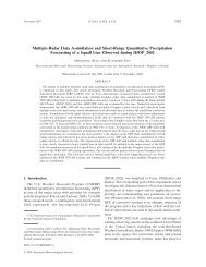 Multiple-Radar Data Assimilation and Short-Range Quantitative ...