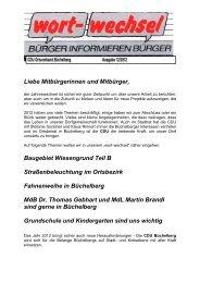 Wortwechsel 12/2012 als pdf-Datei - Büchelberg, das Dorf mitten im ...