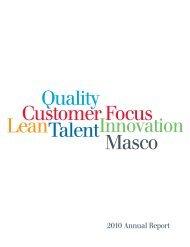 2010 Annual Report - Masco Corporation