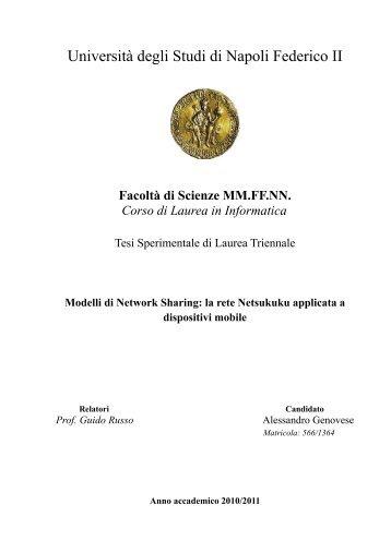 1 Introduzione - Scope - Università degli Studi di Napoli Federico II