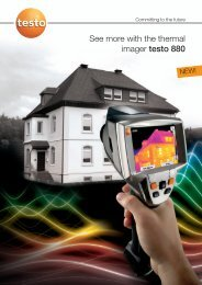 See more with the thermal imager testo 880 - CleanAir Instrument ...