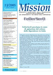 13/2005 Sommario Mission - FeDerSerd