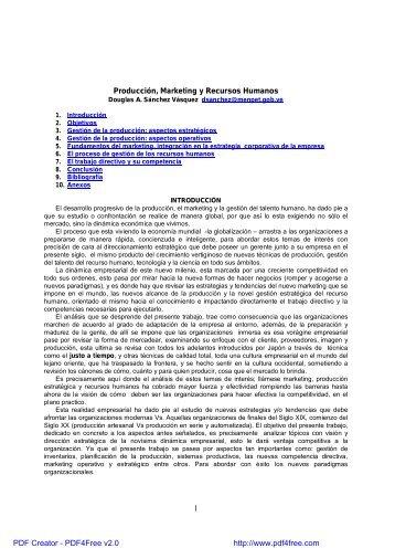 1 Producción, Marketing y Recursos Humanos - Biblioteca