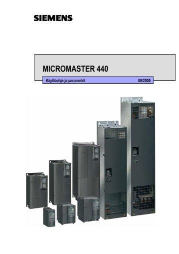 Micromaster 440 -käyttöohje - Siemens