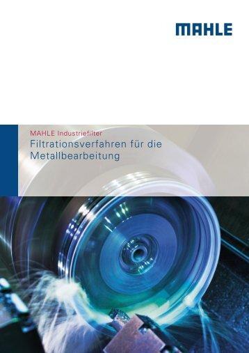Filtrationsverfahren für die Metallbearbeitung - BIBUS