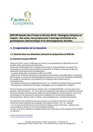 RIO+20 étendu des P'actes le 20 juin 2012 ... - Pactes Locaux
