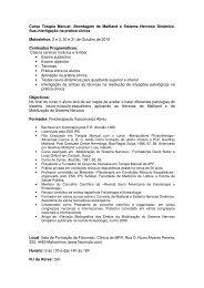Curso Terapia Manual: Abordagem de Maitland e Sistema ... - APF