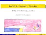 Sommersemester 2008 - Didaktik der Informatik