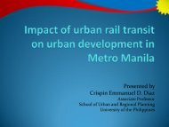 Impact of urban rail transit on urban development in Metro Manila
