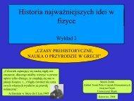 Historia najważniejszych idei w fizyce - Uniwersytet Śląski
