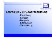 Lehrpaket § 34 Gewerbeordnung - Security-Forum