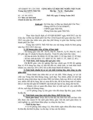 Báo cáo tình hình chuẩn bị năm học 2012-2013 - Jabry