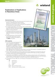 Explanations of applications in hazardous areas - Wieland Electric