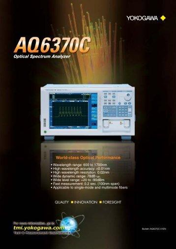 Optical Spectrum Analyzer AQ6370C - Yokogawa