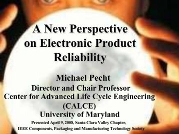 A New Perspective on Electronic Product Reliability