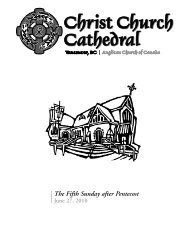 The Fifth Sunday after Pentecost - Christ Church Cathedral Vancouver