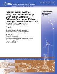 Program Design Analysis using BEopt Building Energy ... - NREL