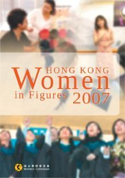 Hong Kong Women in Figures 2007