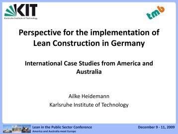 lean construction case studies