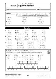 NSM 8 Student CD/Foundation Worksheet 10 - Pearson Australia ...
