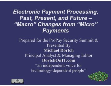 Electronic Payment Processing, Past, Present and Future - ProPay
