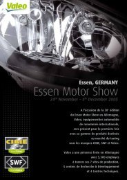 A l'occasion de la 38e édition du Essen Motor Show en ... - Valeo