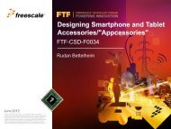 Freescale's MFi solutions are based on the TWR-DOCK peripheral ...