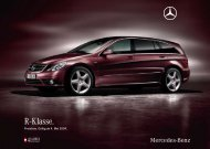 Preisliste R-Klasse - Daimler