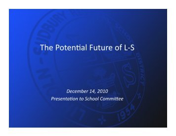 The Potencal Future of L-‐S - LS Home Page
