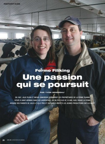 Ferme Filiking Une passion qui se poursuit