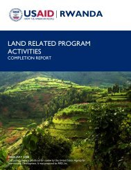 Rwanda: Land Related Program Activities Completion Report