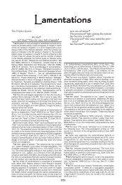 Lamentations - Biblical Studies Foundation