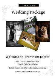 Wedding Package - Trentham Estate
