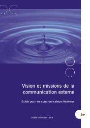 Vision et missions de la communication externe - Fedweb