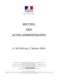 Recueil n°3 du 17 février 2010 - Les services de l'État dans l'Yonne