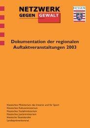 Dokumentation der regionalen Auftaktveranstaltungen 2003
