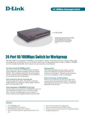 24-Port 10/100Mbps Switch for Workgroup - Icecat.biz