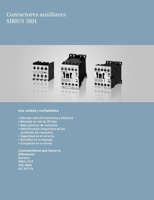 1eaf4c246b1 Contactores auxiliares SIRIUS 3RH - Industria de Siemens