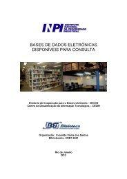 bases de dados eletrônicas disponíveis para consulta - Inpi