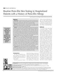 Routine Penicillin Skin Testing in Hospitalized Patients with a ...