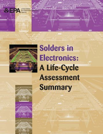 Solders in Electronics - Institute for a Secure and Sustainable ...